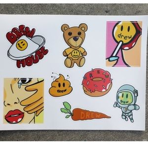 Drew House 🙂 Sticker Sheet
